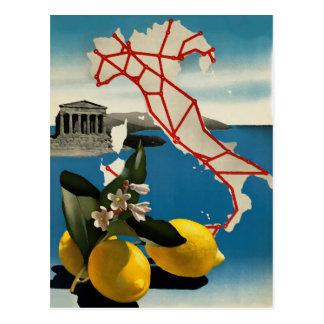 Cartão do viagem de Italia do vintage