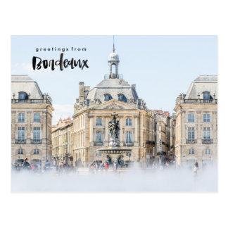 Cartão do viagem de Lugar de la a Bolsa Bordéus