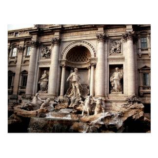 Cartão do viagem de Roma Italia da fonte do Trevi