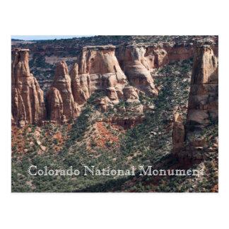 Cartão do viagem do monumento nacional de Colorado