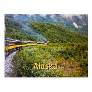 Cartão do viagem do trem de Alaska