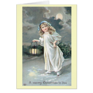 Cartão do Victorian do vintage do Natal