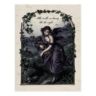 "Cartão do Victorian na beleza de Byron ""anda"""