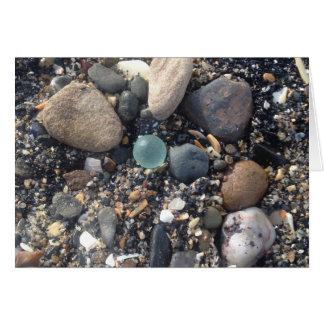 Cartão do vidro do mar! Mármore escocês da praia