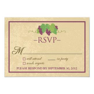 Cartão do vinhedo RSVP (design do pergaminho) Convite 8.89 X 12.7cm