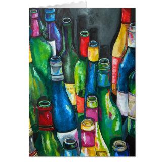 Cartão do vinho