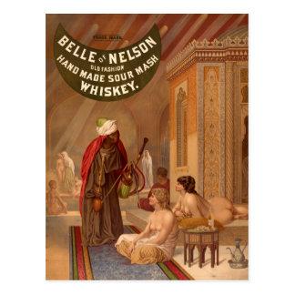 Cartão do vintage:  Belle do uísque de Nelson
