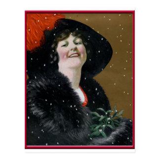 Cartão do vintage boas festas