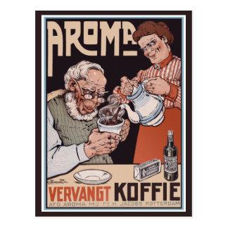 Cartão do vintage:   Café: Aroma Vergangt Koffie