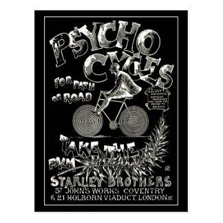 Cartão do vintage:  Ciclos psicóticos