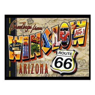 Cartão do vintage da arizona de Winslow