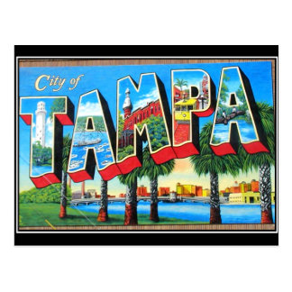 Cartão do vintage da cidade de Tampa