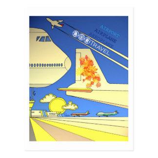 Cartão do vintage das linhas aéreas do mundo