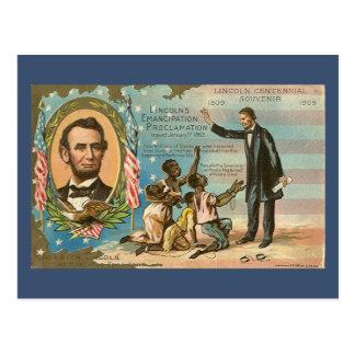 Cartão do vintage de Abraham Lincoln