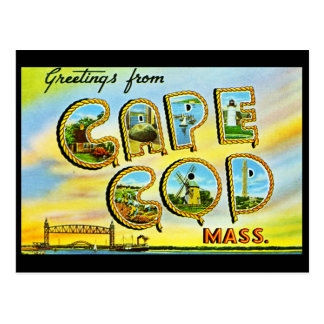 Cartão do vintage de Cape Cod Massachusetts