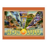 Cartão do vintage de Honolulu Havaí Cartões Postais