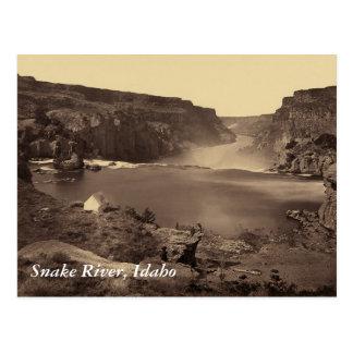 Cartão do vintage de Idaho das quedas de Soshone
