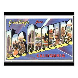 Cartão do vintage de Los Angeles