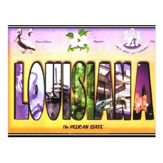 Cartão do vintage de Louisiana
