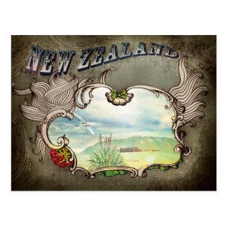 Cartão do vintage de Nova Zelândia