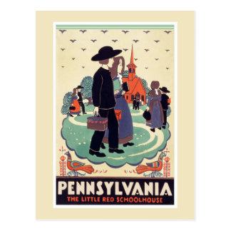 Cartão do vintage de Pensilvânia