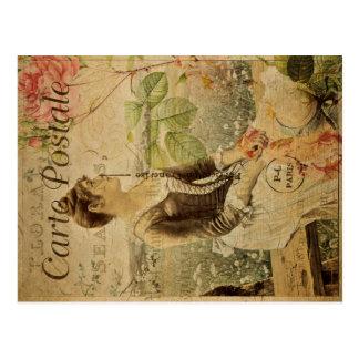 Cartão do vintage de Postale do carte