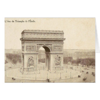 Cartão do vintage do Arco do Triunfo de l'Etoil