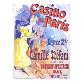 Cartão do vintage do de Paris do casino