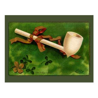 Cartão do vintage do dia de St Patrick irlandês da