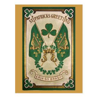 Cartão do vintage do dia do St. Patricks