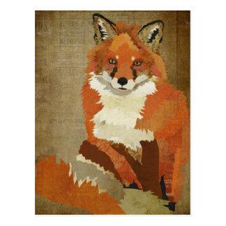 Cartão do vintage do Fox vermelho Cartao Postal