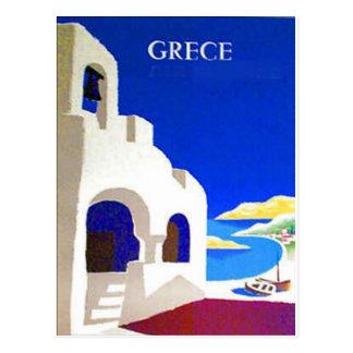 cartão do vintage do grece