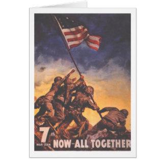 Cartão do vintage do USMC