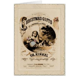 Cartão do vintage dos presentes do Natal