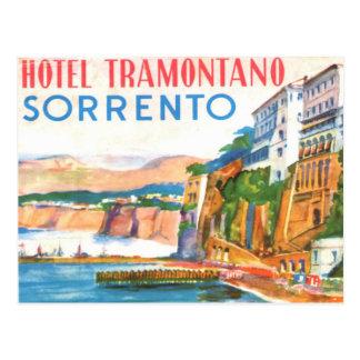 Cartão do vintage - hotel Tramontano Sorrento