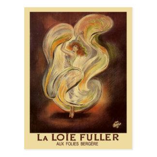 Cartão do vintage: La Loie de Folies Bergere mais