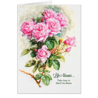 Cartão Do vintage temático do aniversário do jardineiro