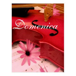 Cartão do violino de Domenica