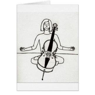 Cartão do violoncelista do zen