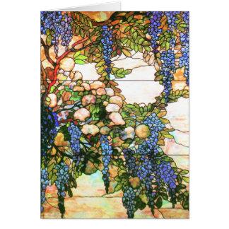 Cartão do vitral de Nouveau da arte de Tiffany