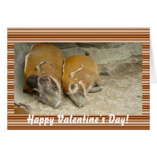 Cartão do warthog do day_ dos namorados