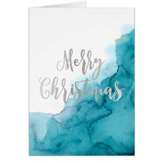 Cartão Cartão do Watercolour do Feliz Natal