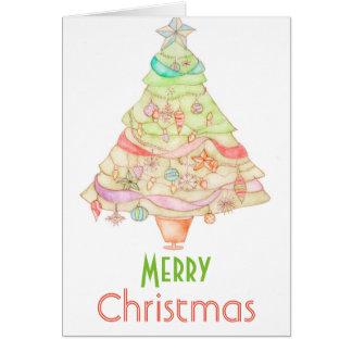 Cartão do watercolour do Feliz Natal