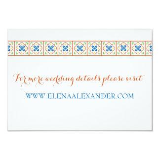 Cartão do Web site do azulejo do espanhol de Convite 8.89 X 12.7cm