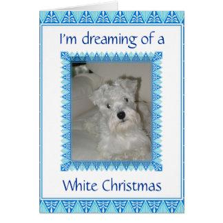 Cartão do White Christmas do Schnauzer