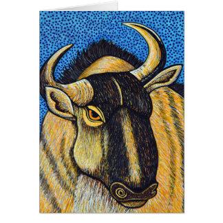 Cartão do Wildebeest