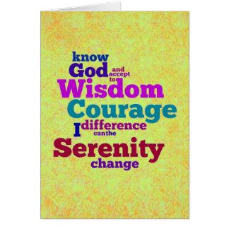 Cartão do wordle da oração da serenidade