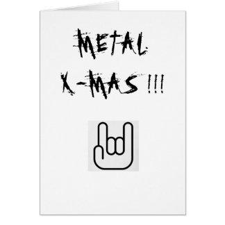 Cartão do X-Mas do metal