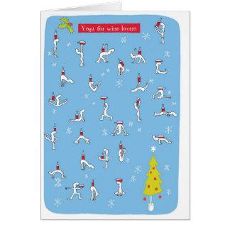 cartão do xmas da ioga