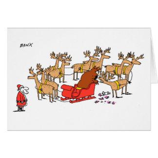 Cartão do Xmas da rena do arruaceiro
